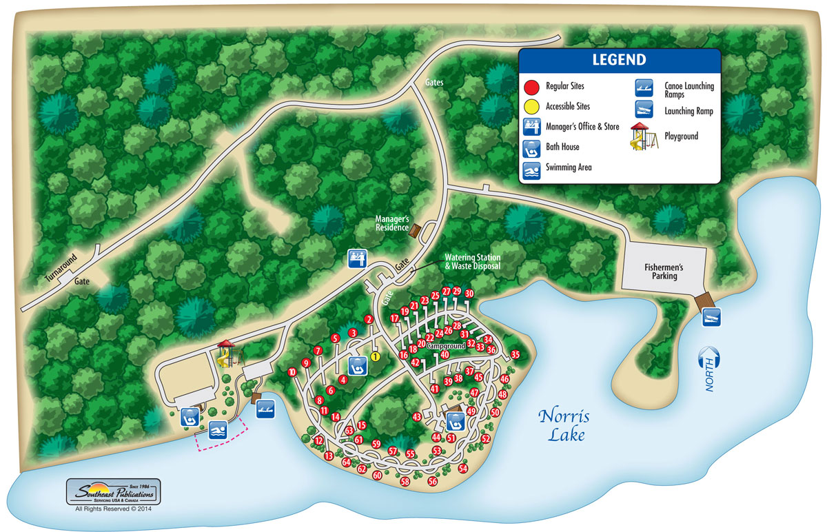 Camping In Tennessee Map.Loyston Point Campground Recreation Resource Management
